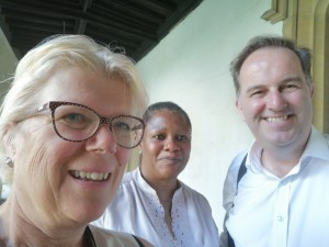 Time for a rapid selfie, Paul Gerrard, Yemisi Jennings, and Revd Dr Carrie Pemberton Ford -