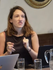Zoe Tabary from Reuters TRUST Foundation, engages the symposium on opportunities of TECH.